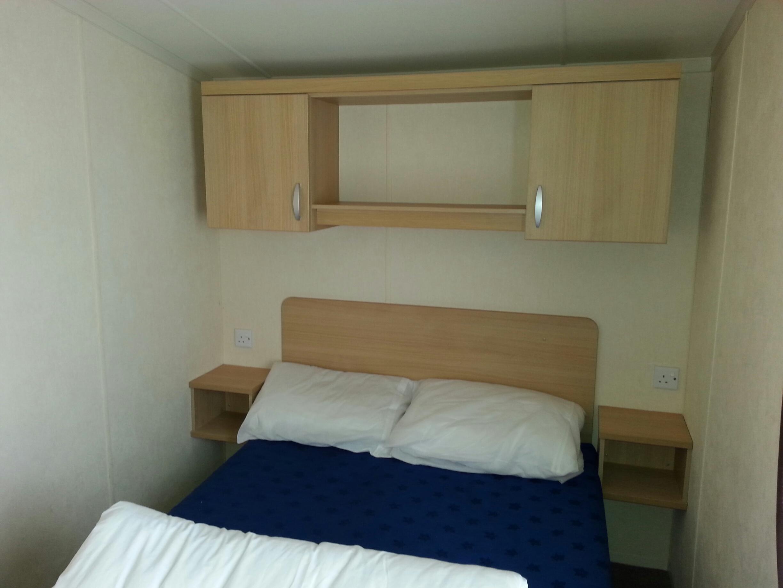 Burgundy double bedroom